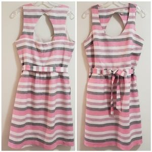 LOFT Striped Summer Dress, Pink Multi, Sz 8